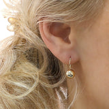 14k White Gold Polished Ball Dangle Earrings
