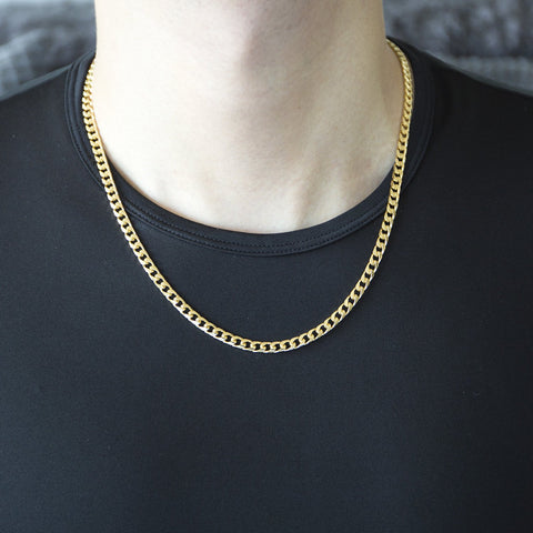 Men's Solid 14k Yellow Gold 4.5mm Heavy Miami Cuban Link Chain Necklace, 20""