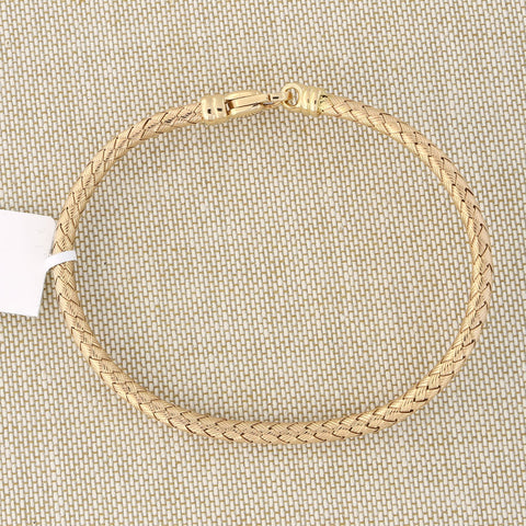 14k Rose Gold 3mm Woven Bracelet, 7.25""