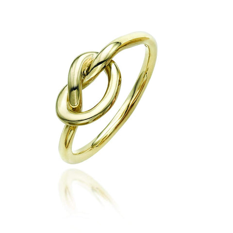 14k Yellow Gold Knot Ring, Size 7