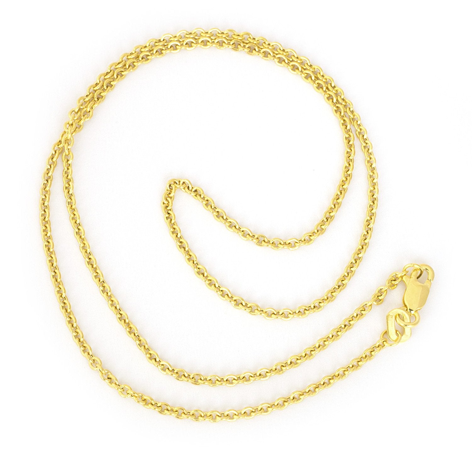 1.9mm Rhodium Plated Cable Pendant Chain