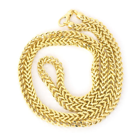 "Beauniq Men's 14k Yellow Gold Lightweight 4.5mm Franco 26"" Necklace"