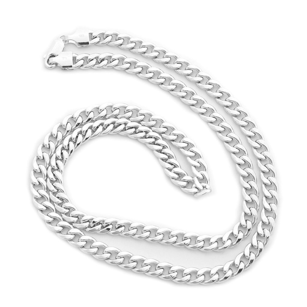 Men's Solid 14k White Gold Heavy Miami Cuban Link Chain Necklace or Bracelet