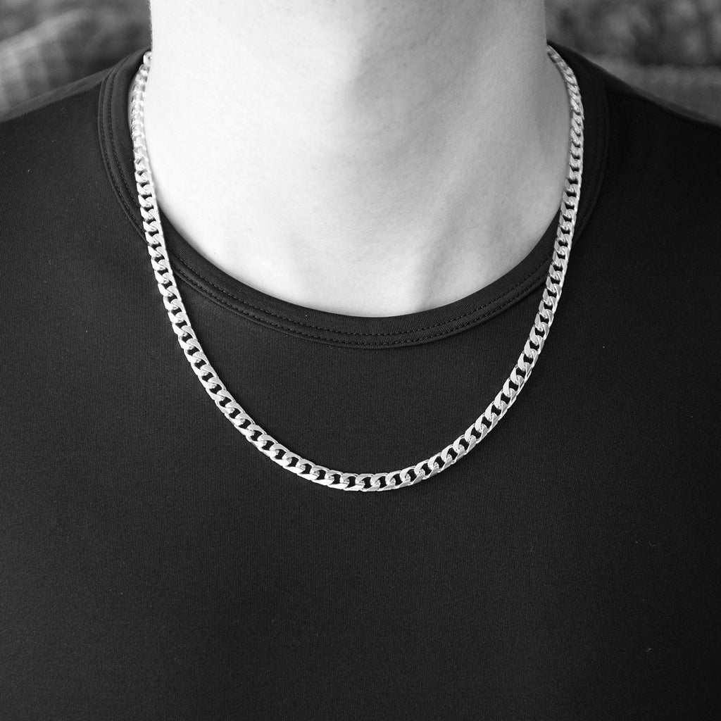 d7e7e0f4c2f79 Men's Solid 14k White Gold Heavy Miami Cuban Link Chain Necklace or ...