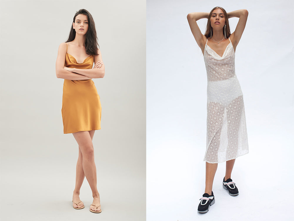 Hansen and Gretel Isla Silk Dress and Milena Sheer Dress | Shop now