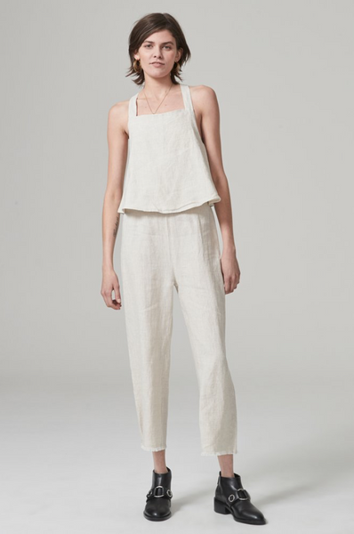 2. The Hansen and Gretel Valerie Jumpsuit in Sand.
