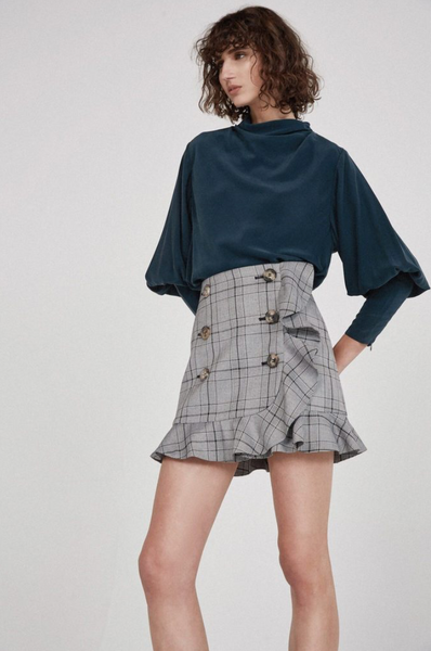 5. Acler Penrith Skirt in Plaid