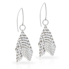 Belle Epoque Earrings - Silver/White