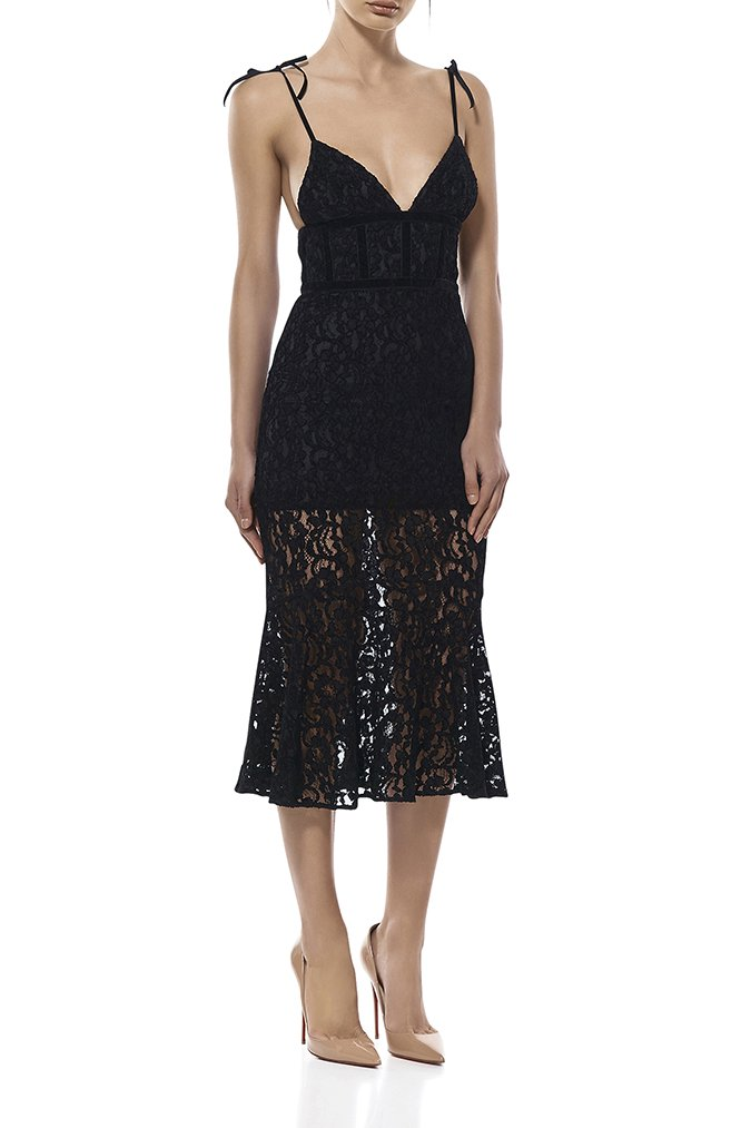 Madeline Long Lace Slip Dress