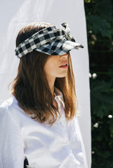 Dawson Linen Visor- Checked