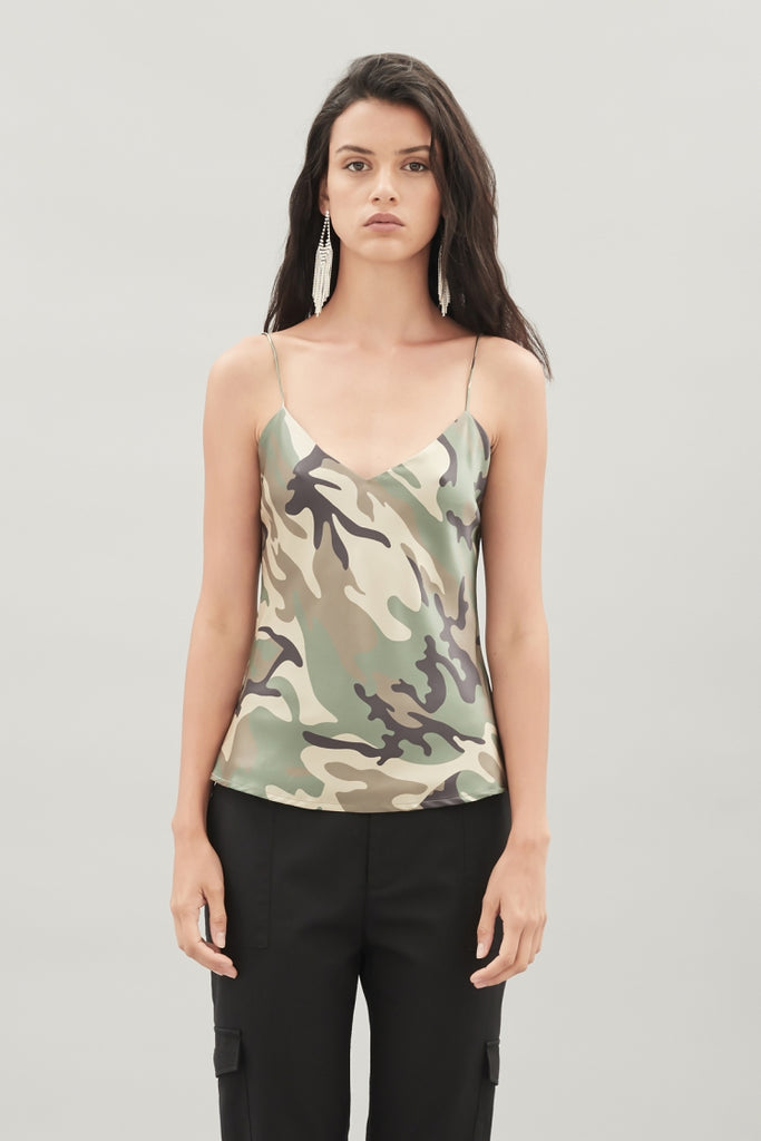 Bindie Eye Silk Top - Camo
