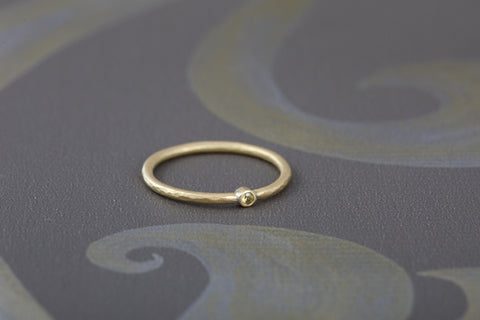 18ct Yellow Gold Ring with Yellow Sapphire