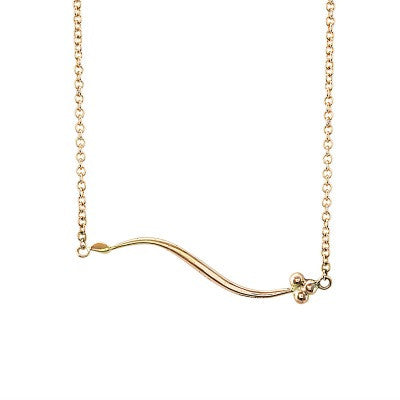 India Sideways necklace in 9ct rose gold