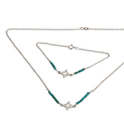 Anahita 2 necklace and bracelet with turquoise beads