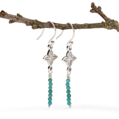 Anahita 2 earrings with turquoise beads