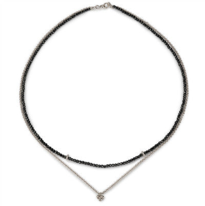 India chain and hematine necklace