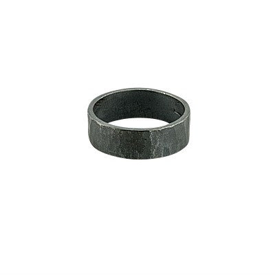 Hammered silver oxidised ring