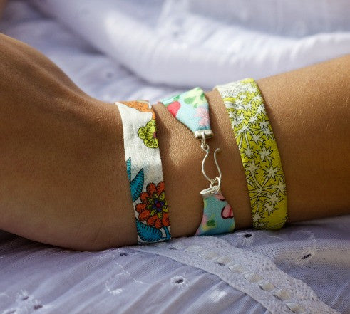 'Remnant' Bracelets made with Liberty Fabric