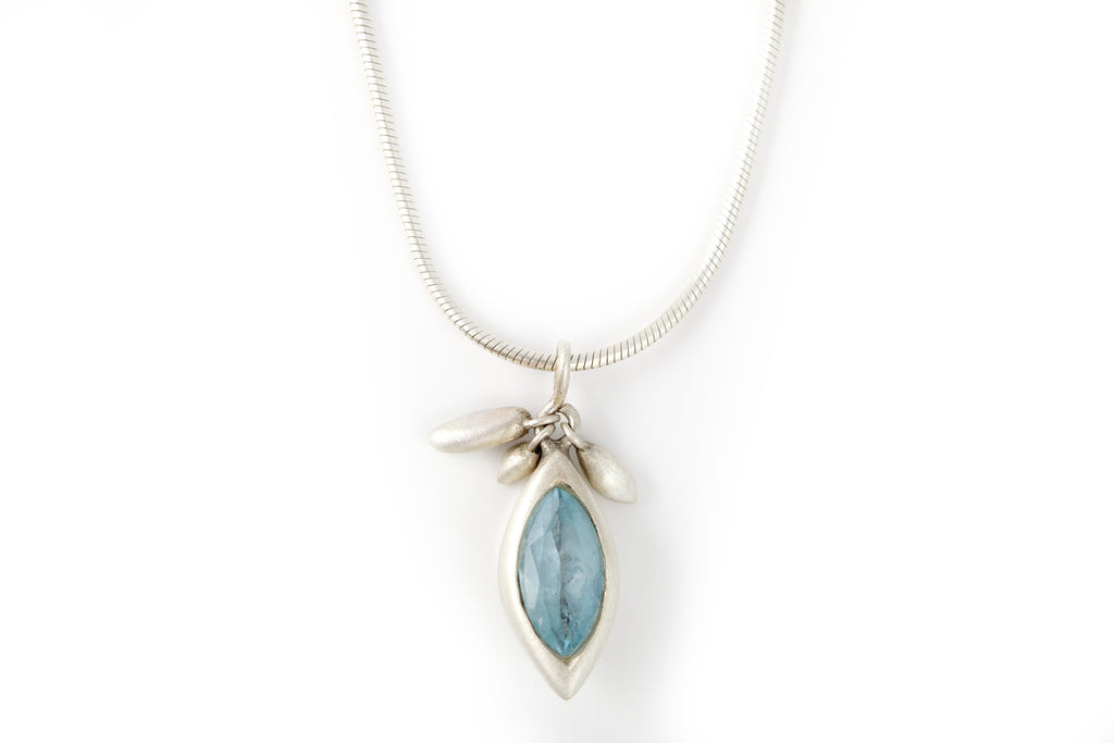 Silver and Aquamarine necklace