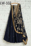 DARK-BLUE COLOR DESIGNER LEHENGA CHOLI WS-102