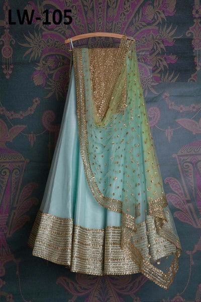 SEA-GREEN COLOR DESIGNER LEHENGA CHOLI WS-105