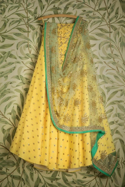 BRIGHT YELLOW COLOR DESIGNER LEHENGA CHOLI WS-108