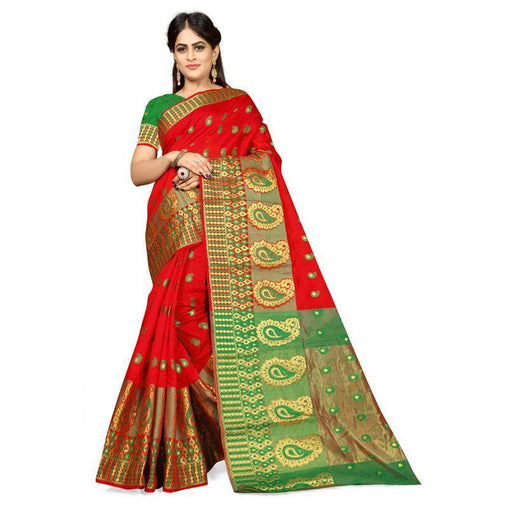 Red Colour Designer Kanjivaram Saree Ws-1010