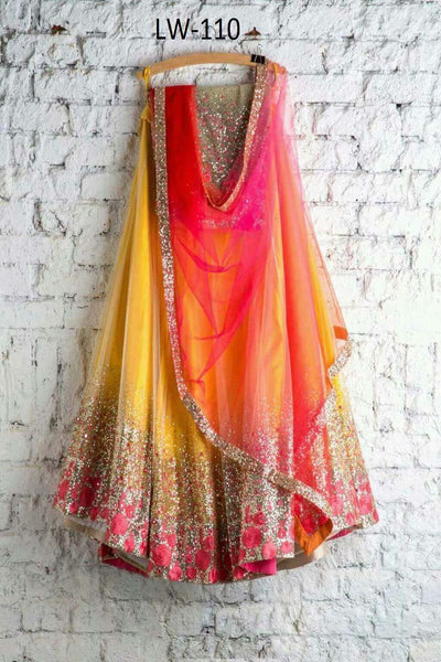 LIGHT YELLOW COLOR FANCY DESIGNER LEHENGA CHOLI WS-110