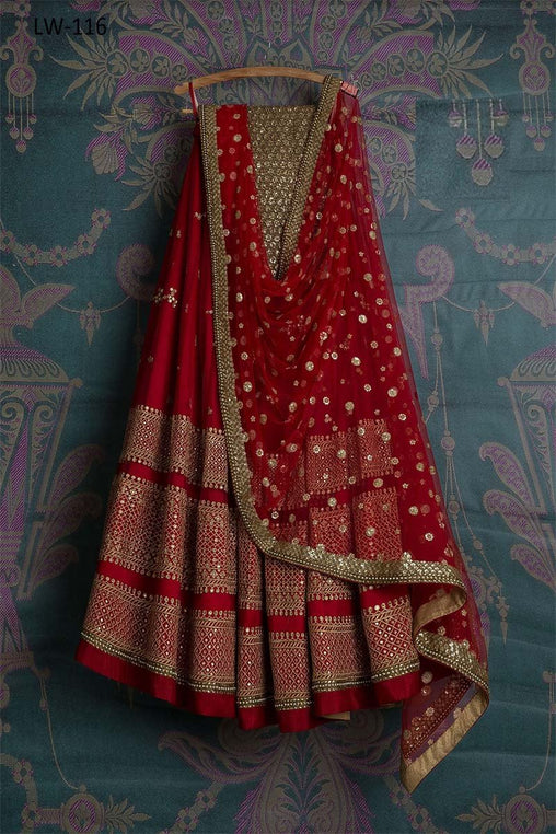 RED COLOR DESIGNER LEHENGA CHOLI WS-116