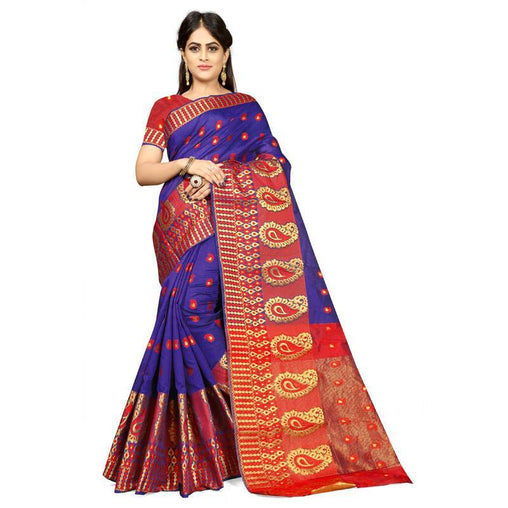 Royal blue Colour Designer Kanjivaram Saree Ws-1011