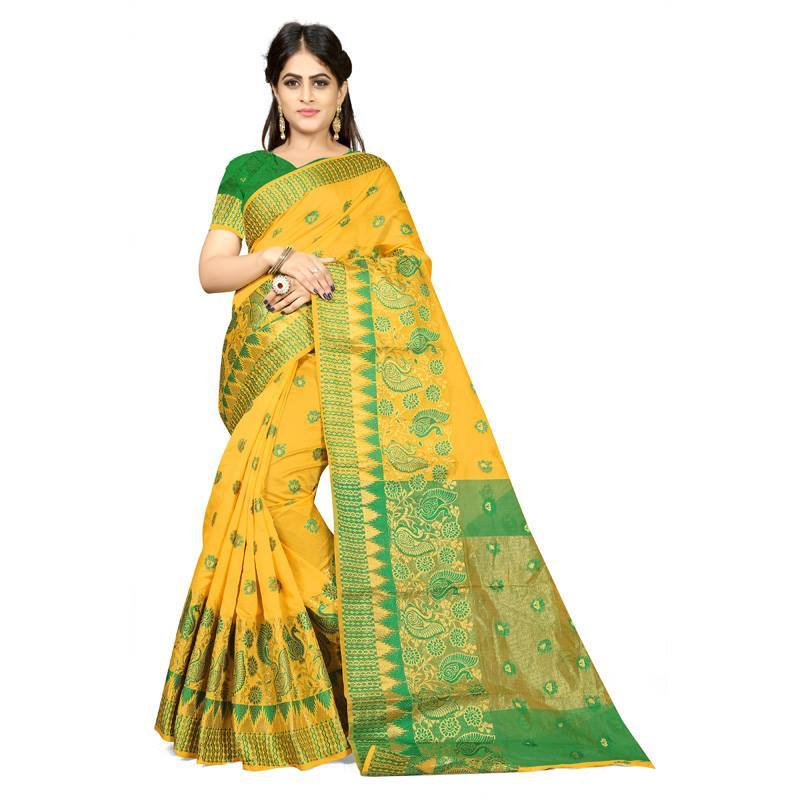 Yellow Colour Designer Kanjivaram Saree Ws-1012