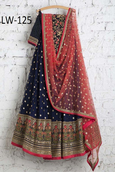 DARK-BLUE COLOR FANCY LEHENGA CHOLI WS-125