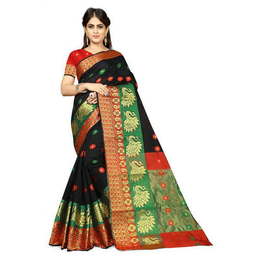 Black Colour Designer Kanjivaram Saree Ws-1013