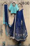 BRIGHT BLUE COLOR DESIGNER LEHENGA CHOLI WS-140
