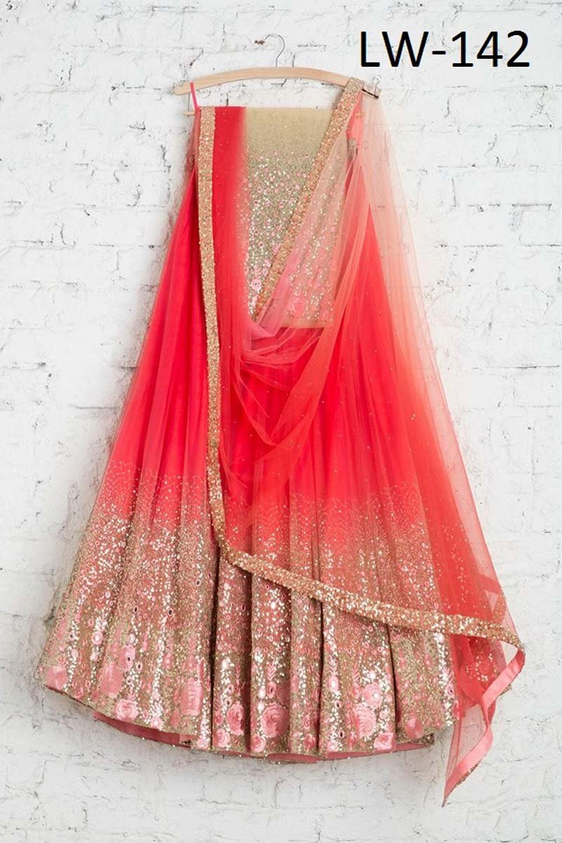 RED-PINK COLOR FANCY DESIGNER LEHENGA CHOLI WS-142