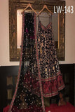 BLACK-RED COMBINATION FANCY LEHENGA CHOLI WS-143