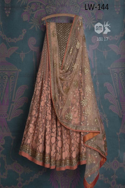 CREAM COLOR FANCY DESIGNER LEHENGA CHOLI WS-144