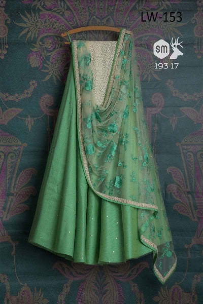 MINT COLOR FANCY DESIGNER LEHENGA CHOLI WS-153
