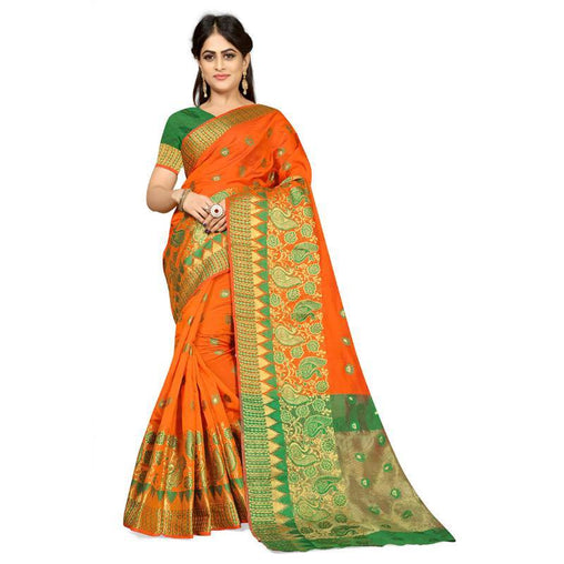 Orange Colour Designer Kanjivaram Saree Ws-1015