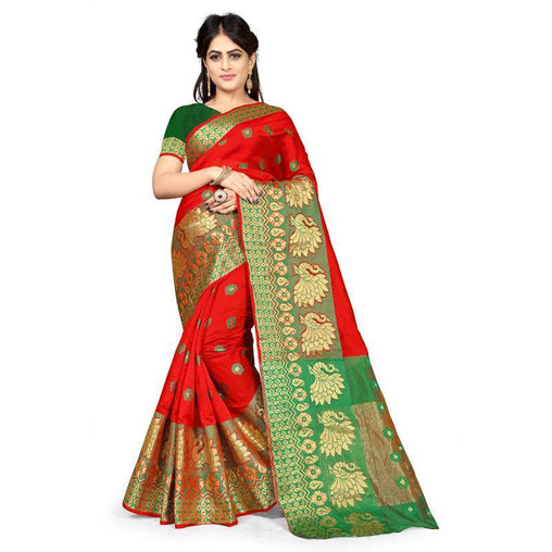 Red Colour Designer Kanjivaram Saree Ws-1016