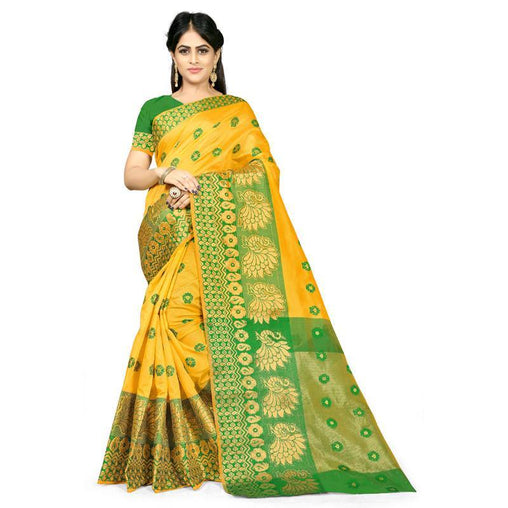 Yellow Colour Designer Kanjivaram Saree Ws-1017