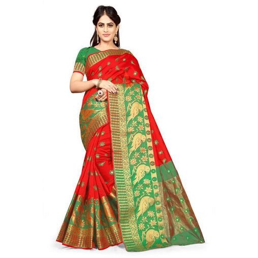 Red Colour Designer Kanjivaram Saree Ws-1018