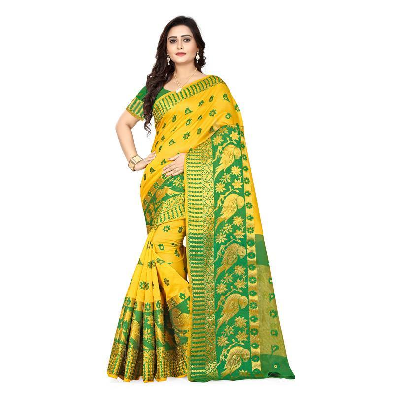 Yellow Colour Designer Kanjivaram Saree Ws-1019