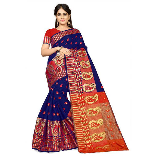 Blue Colour Designer Kanjivaram Saree Ws-1001