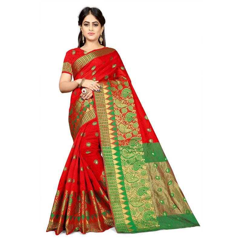 Red Colour Designer Kanjivaram Saree Ws-1002