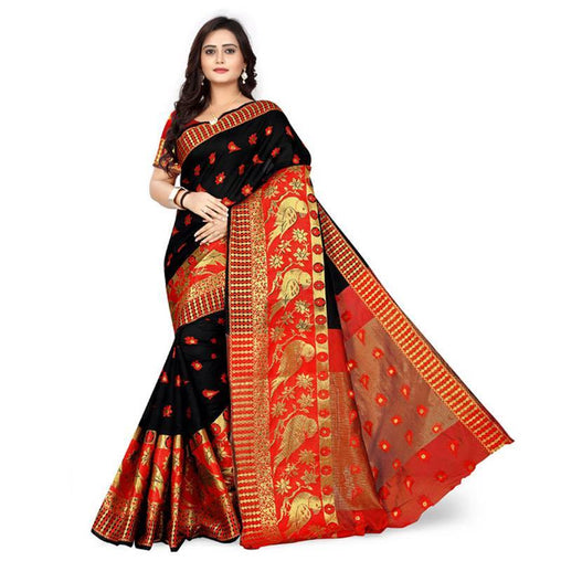 Black Colour Designer Kanjivaram Saree Ws-1020