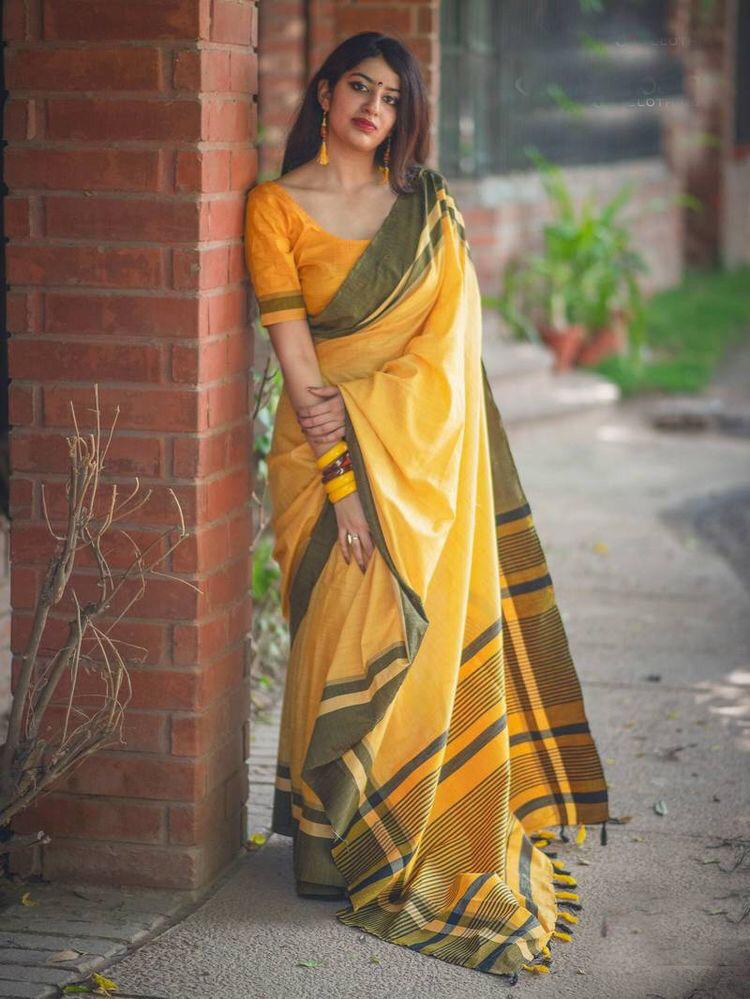 Yellow Color Soft Silk Saree Ws-2115