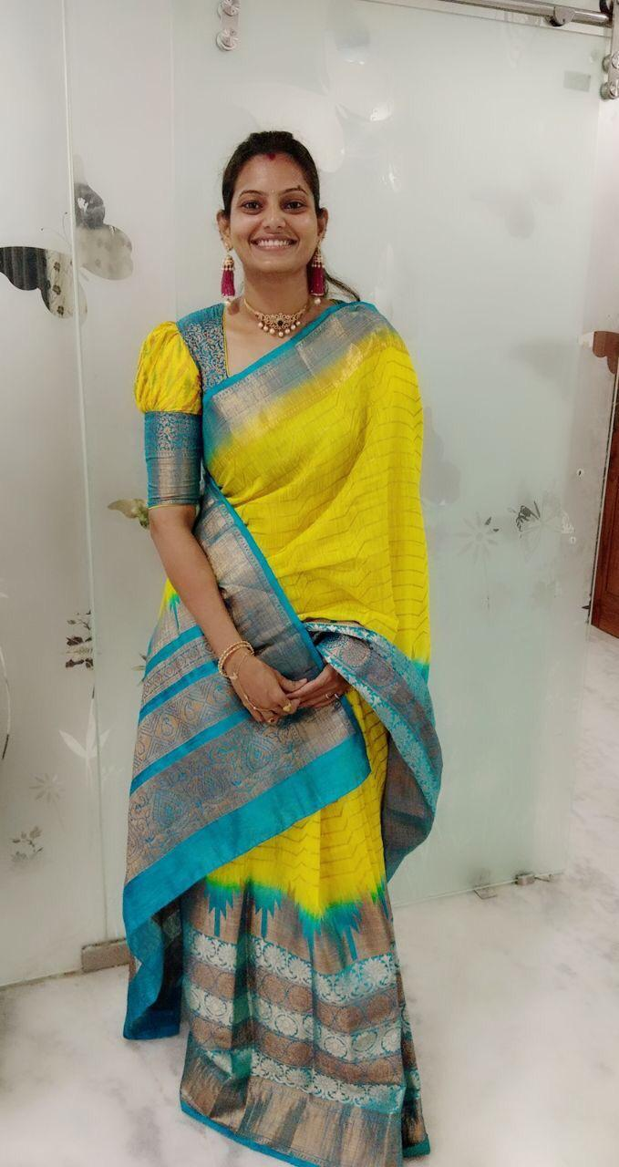 yellow Color Soft Silk Saree Ws-2117