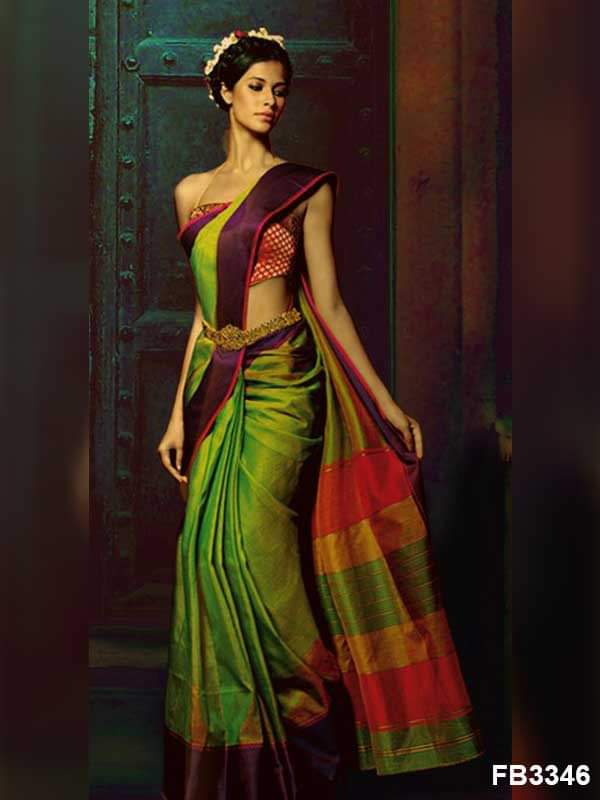 Multi color soft silk saree WS-2137