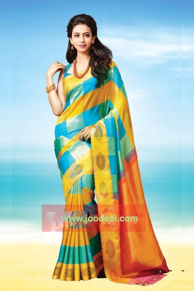 Multi color soft silk saree WS-2147
